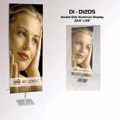 "DI-DI2DS Double Side Aluminum Banner Stand 31.5"" x 70.9"""