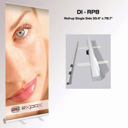"D1-RP8 Roll-up Single Side Banner Stand 33.4"" x 78.7"""