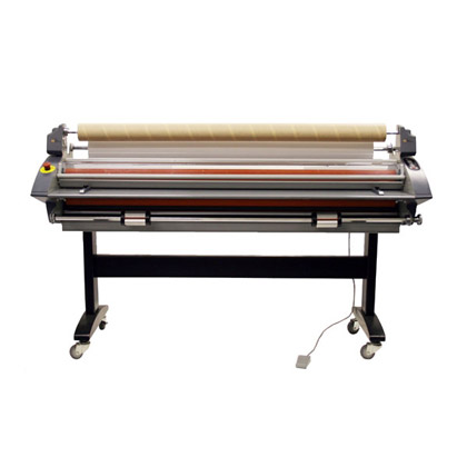 RSC-1650LSH 65 inch top roller heat assist free standing laminator