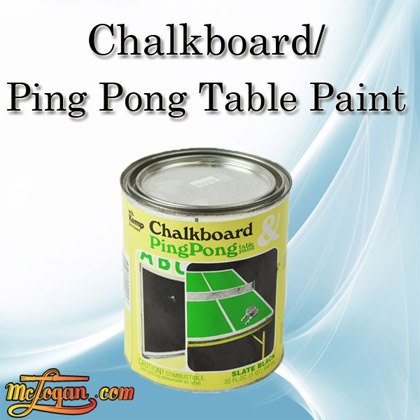 Chalkboard And Ping Pong Table Paint