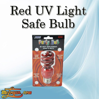 Red uv light safe bulb