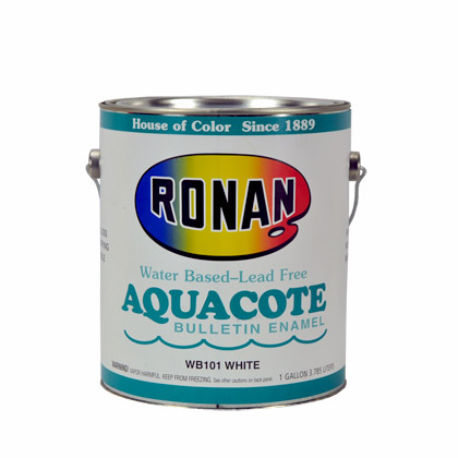 Ronan Aquacote waterbased bulletin colors
