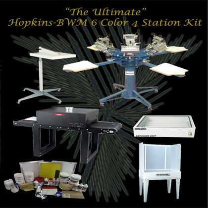 Hopkins-Bwm 6 Color 4 Station Press and Kit
